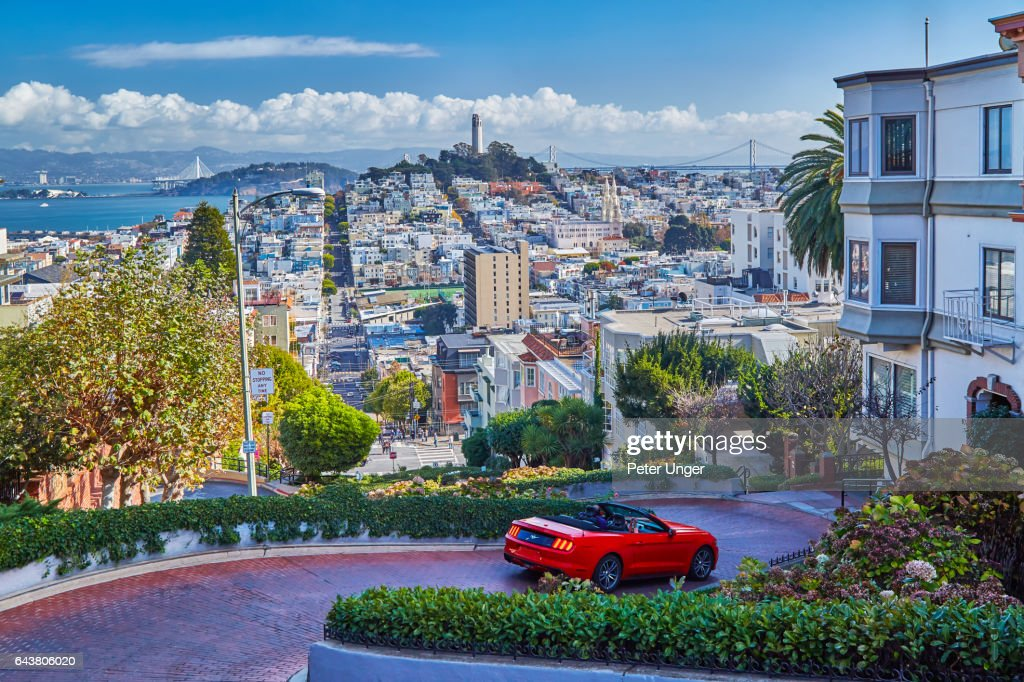 The city of San Francisco,California.USA : Bildbanksbilder