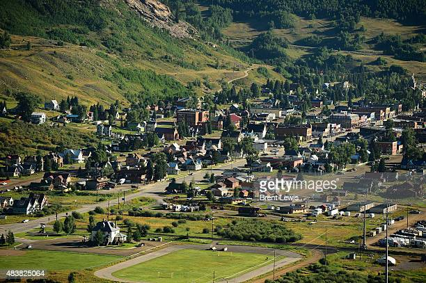 The city of Silverton August 13 2015 along US Route 550 Members of the EPA Environmental Restoration Weston Solutions and the US Coast Guard are...