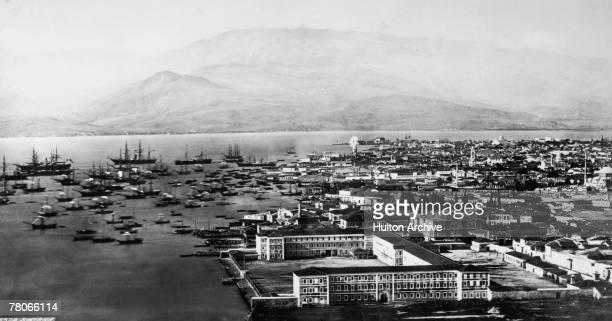 The city of Smyrna on the Turkish coast circa 1880
