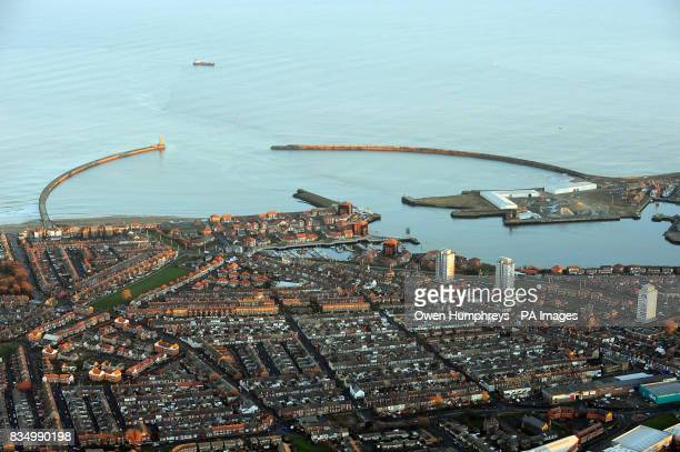 The city of Sunderland and the mouth of the River wear