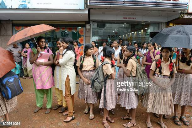 The city of Thrissur during the monsoon Kerala on July 19 2016 in India
