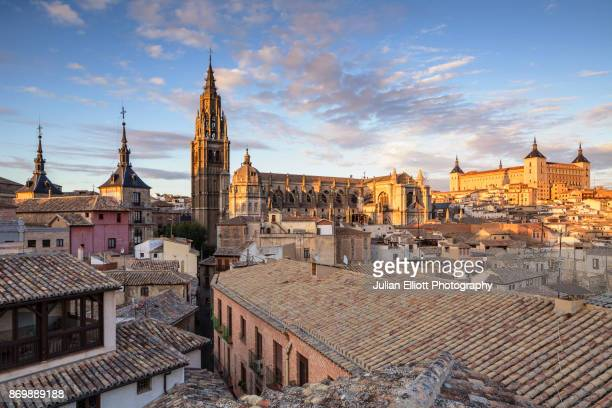 the city of toledo in spain. - toledo spain stock pictures, royalty-free photos & images