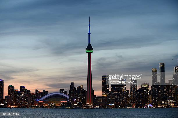 The city of Toronto Canada is seen where the 2015 Pan American Games are being held July 16 2015 AFP PHOTO / HECTOR RETAMAL