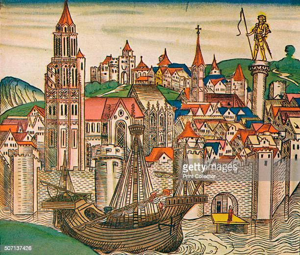 The City of Treviso with a Carrack' 1493 The Nuremberg Chronicle is an illustrated biblical paraphrase and world history that follows the story of...