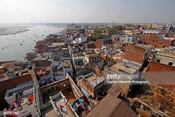 the city of varanasi - stephan rebernik stock-fotos und bilder