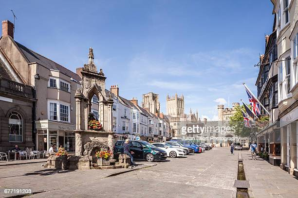 the city of wells, uk. - somerset england stock pictures, royalty-free photos & images