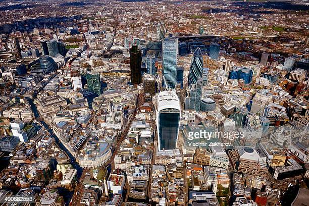 CONTENT] The City or Square Mile business district in central London including many landmark skyscrapers
