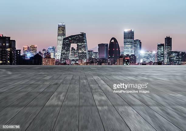 The city parking lot, Beijing CBD Area