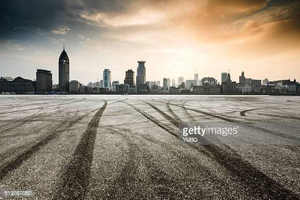 The city parking lot