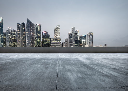 The city parking lot - gettyimageskorea