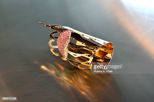 The City The Birds is a limited edition 18K gold hand cuff made by Lebanese born Dubaibased designer Nadine Kanso reflecting the contrasting elements...