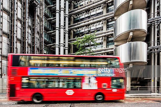 The City, typical bus near the Lloyds Building