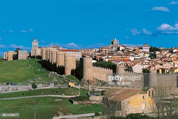 The city walls of Avila Castile and Leon Spain 11th14th century