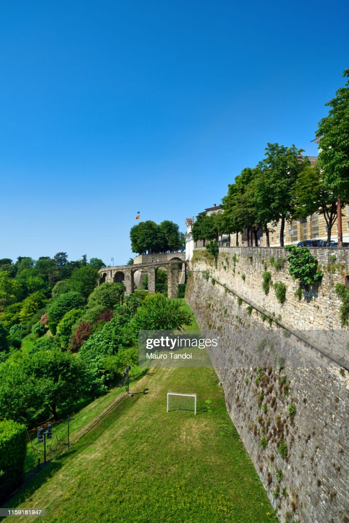 The city walls of Città Alta (Upper town), Bergamo, Italy. : Stock Photo