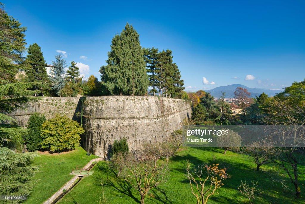 The city walls of Città Alta (Upper town), Bergamo, Italy. : Foto stock