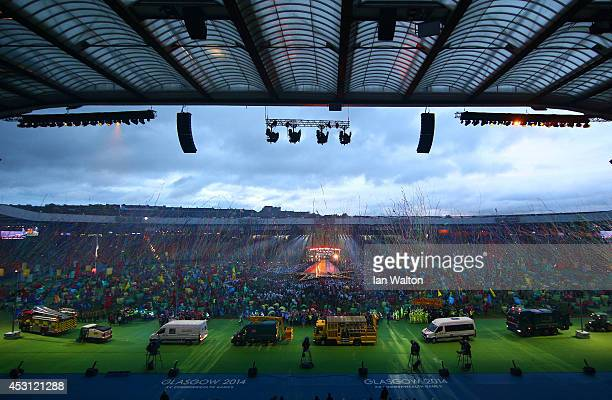 The City Workers enter the stadium during the Closing Ceremony for the Glasgow 2014 Commonwealth Games at Hampden Park on August 3 2014 in Glasgow...