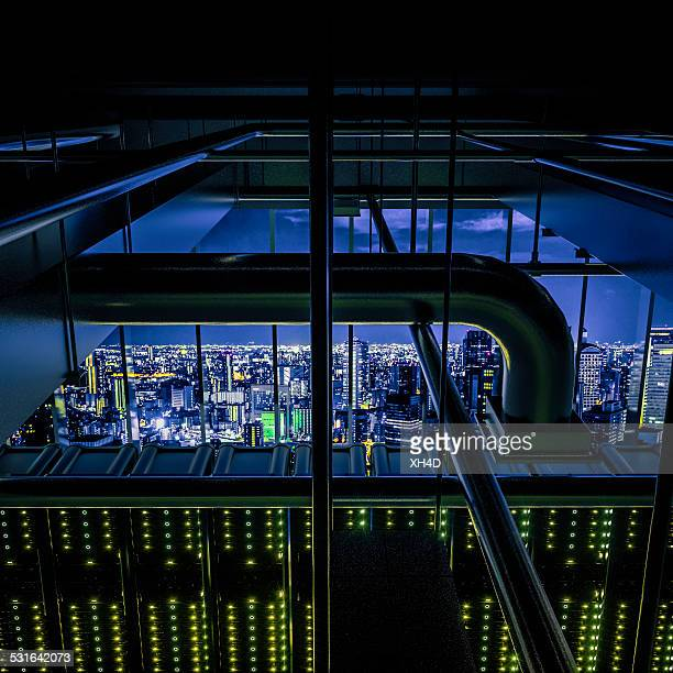 the city's brain - data center stock pictures, royalty-free photos & images