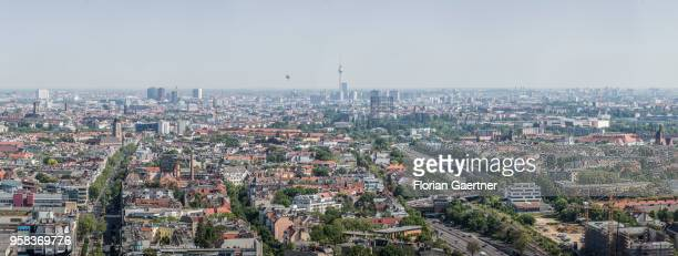 The cityscape is seen fron the so called 'Steglitzer Kreisel' on May 09 2018 in Berlin Germany