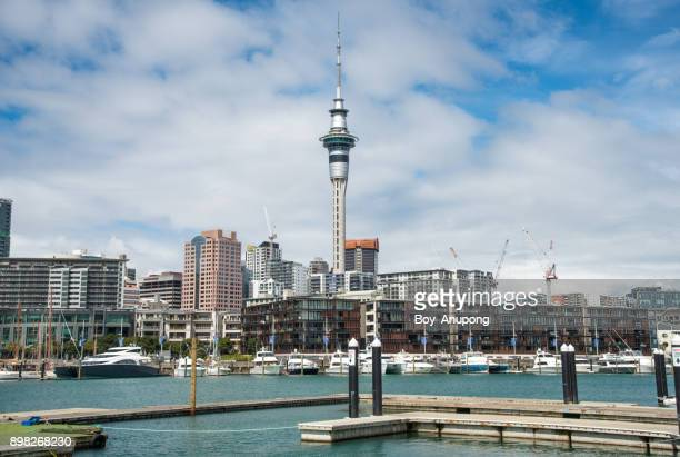 The cityscape of Auckland, New Zealand.