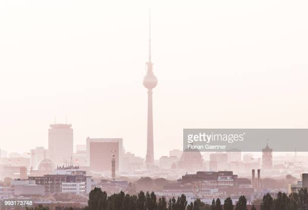 The cityscape of Berlin is pictured in the morning on July 07 2018 in Berlin Germany