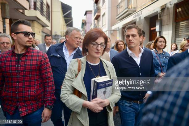 The Ciudadanos candidate to the European Parliament Maite Pagazaurtundua and the leader of Ciudadanos Albert Rivera participate in a tribute to the...