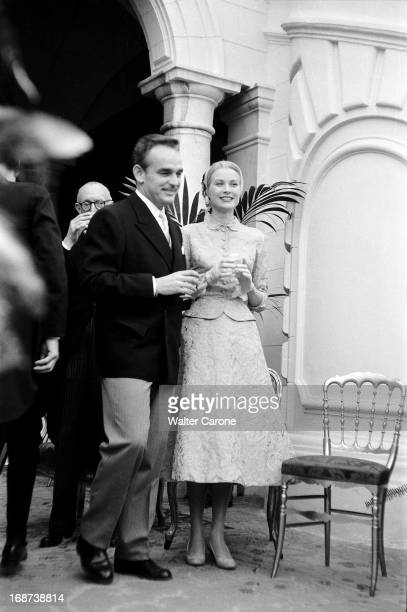 The civil marriage of Grace Kelly and Prince Rainier of Monaco in Monaco on April 18, 1956.