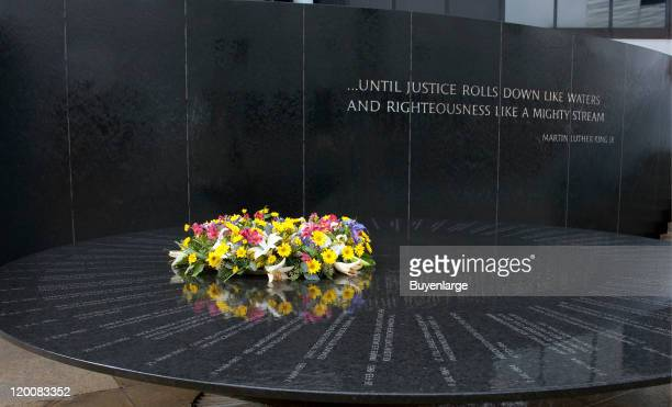 The Civil Rights Memorial designed by Maya Lin is a circular black granite table that chronicles the history of the movement in lines that radiate...