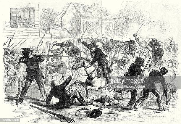 The Civil War In America Gallant Charge Of Federal Cavalry Into Fairfax Courthouse Virginia 22 June 1861