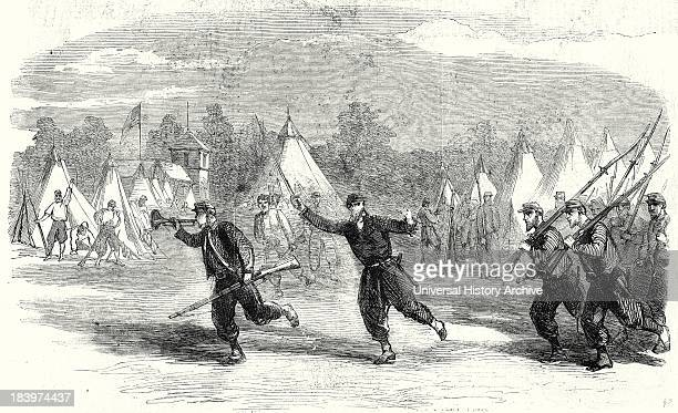 The Civil War In America New York Firemen Zouaves Turning Out To Support Pickets Between Alexandria And Fairfax Courthouse Virginia 22 June 1861