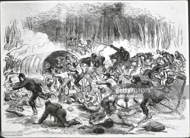 The stampede from Bull Run First Battle of Bull Run Virginia