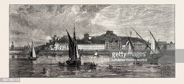 General View Of Carthagena From The Sea 1873 Engraving