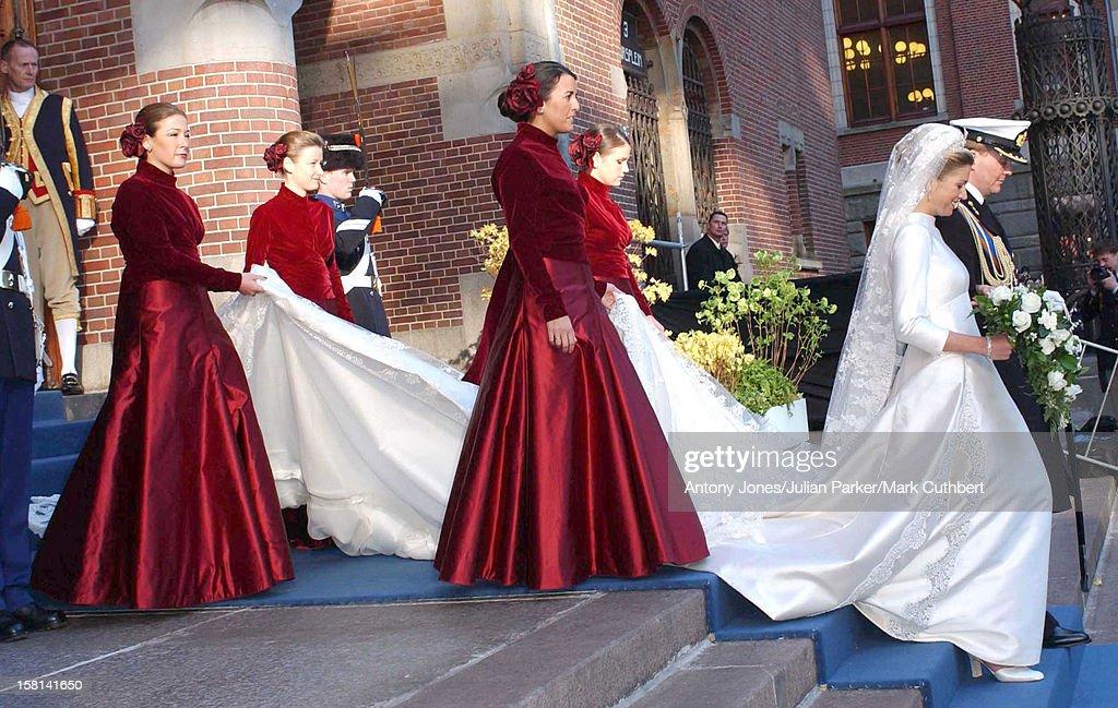 The Civil Wedding Ceremony Of Crown Prince Willem Alexander And Maxima Zorreguieta At Beurs Van Berlage, Amsterdam. .