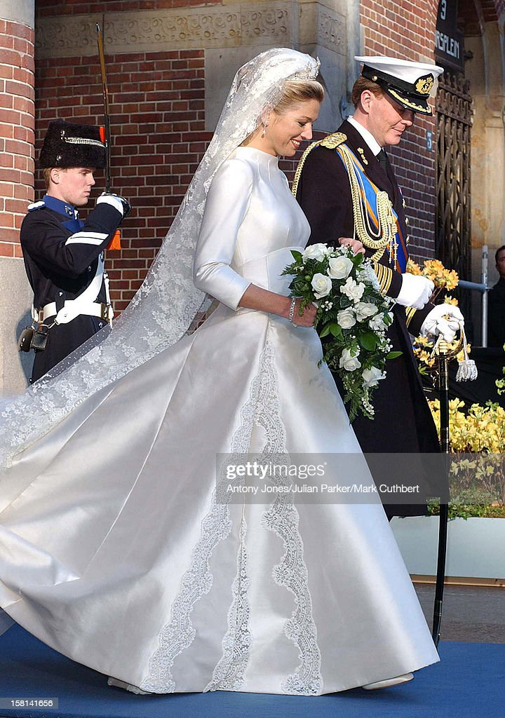 The Civil Wedding Ceremony Of Crown Prince Willem Alexanderm And Maxima Zorreguieta At Beurs Van Berlage, Amsterdam. .