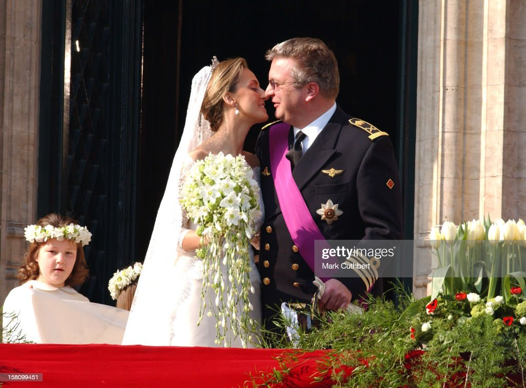 The Civil Wedding Ceremony Of Prince Laurent Of Belgium & Claire Coombs : News Photo