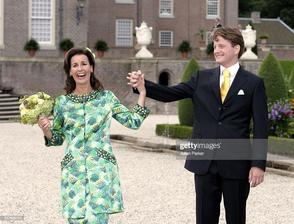 Prince Pieter-Christiaan & Anita Van Eijk Civil Wedding Ceremony In Apeldoorn : News Photo