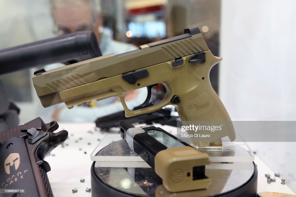 Gun Enthusiasts And Vendors Attend HIT Trade Show In Vicenza, Italy : News Photo