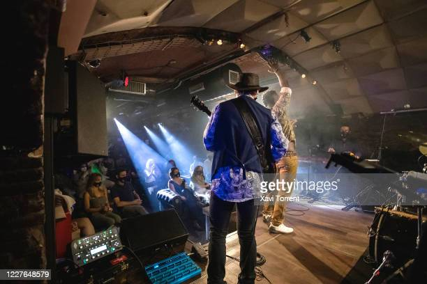 The Clarence Bekker Band performs at the Jamboree Jazz Club in the first concert in Spain to be performed in a concert hall after the easing of...