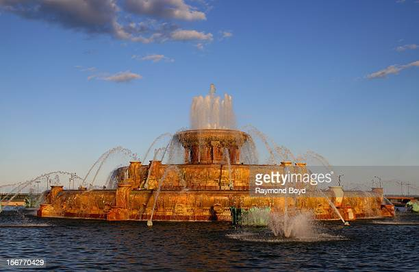 The Clarence Buckingham Fountain in Chicago Illiinois on AUGUST 23 2012