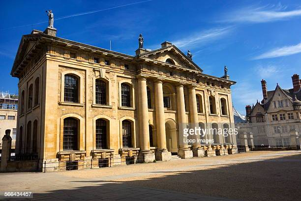 The Clarendon Building and Hertford College on a fine spring day in Oxford