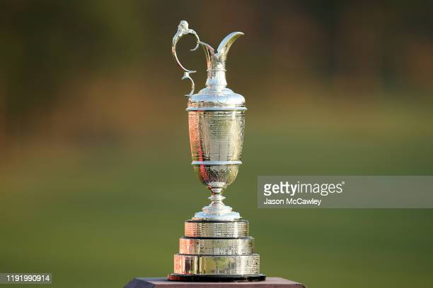 The Claret Jug is displayed during day one of the 2019 Australian Golf Open at The Australian Golf Club on December 05 2019 in Sydney Australia
