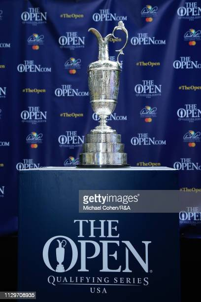 The Claret Jug is seen on display during The Open Qualifying Series part of the Arnold Palmer Invitational at Bay Hill Club and Lodge on March 10...