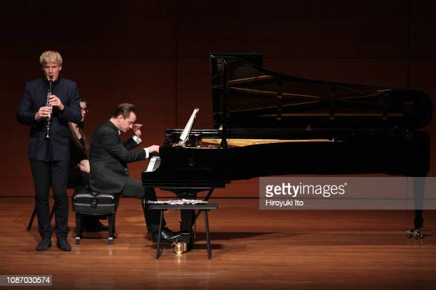 The clarinetist Martin Frost with the pianist Henrik Mawe performing the music of Poulenc Bartok and Brahms at Alice Tully Hall on Wednesday night...