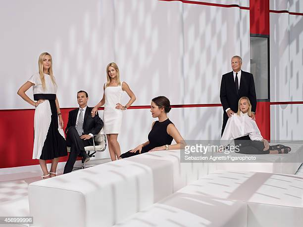 110237002 The Clarins Family Olivier with twin daughters Jenna and Prisca and Christian with daughters Virginie and Claire are photographed for...