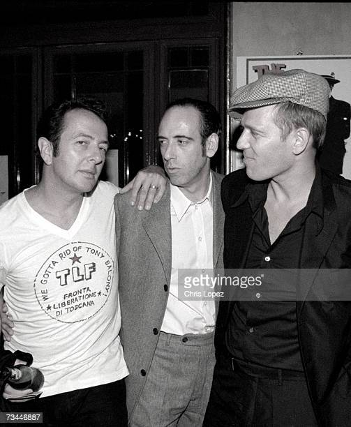 The Clash arriving at the screening of their documentary 'Westway To The World' Directed by Don Letts At the Coronet cinema Nottinghill Gate London...