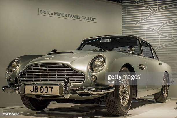 the 1964 Aston Martin DB 5 coupe featured in GoldfingerPart of the inaugural exhibition at the newly refurbished Petersen Automotive Museum in Los...