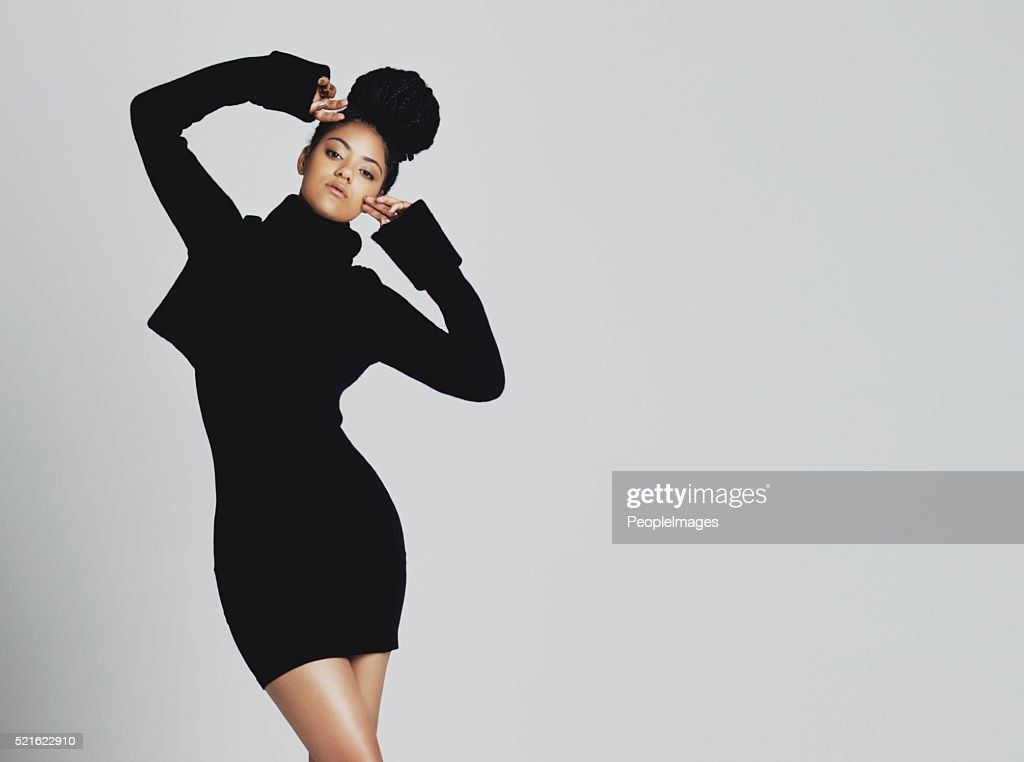 The classic little black dress, stylish and versatile : Stock Photo