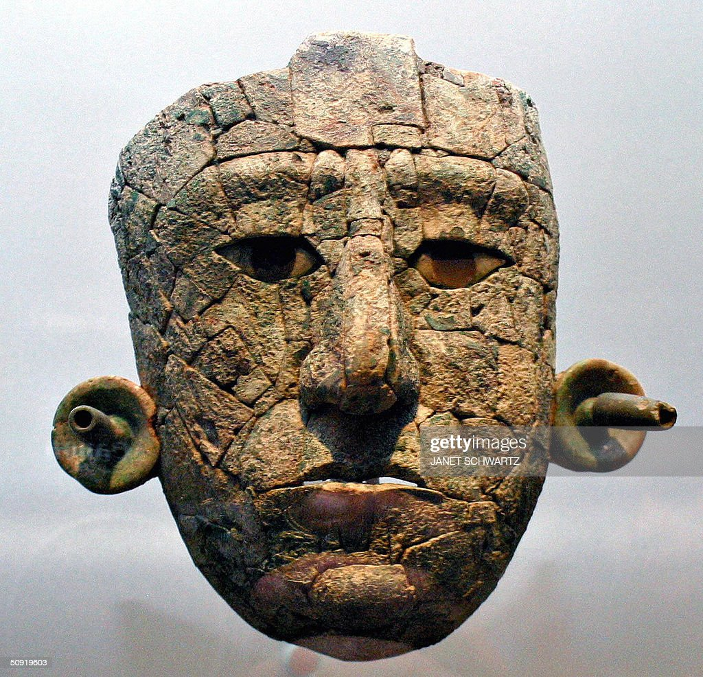 The Classic Maya mask of the Red Queen, : Photo d'actualité