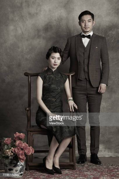 The classical gentleman and the beautiful woman
