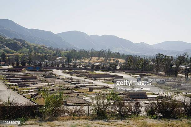 The cleaned up Oakridge Trailer Park which was devastated after the Sylmar Wildfire in November 2008