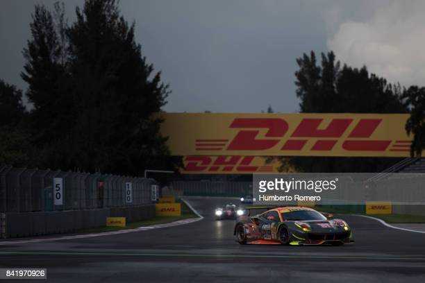 The Clear Water Racing LM GTE AM team drives during practice for the FIA World Endurance Championship at Hermanos Rodriguez Race Track on September...